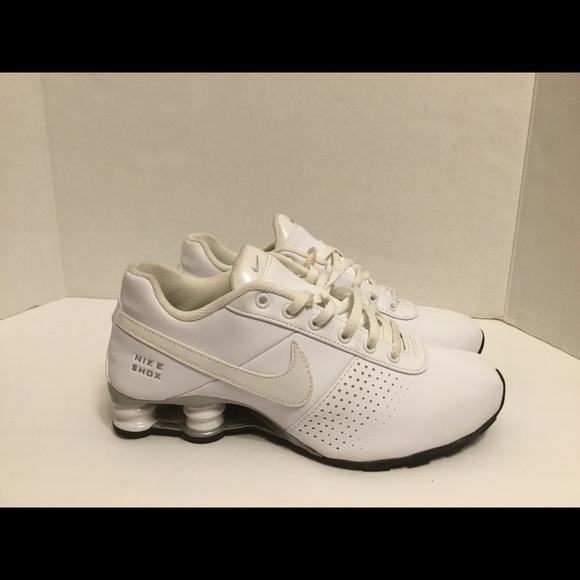 outlet store b960c cafe6 Nike Shox Deliver Print GS White Running Shoes 6Y.  M 5c107b6a9fe4862212b4249d